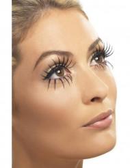 Lange, schwarze falsche Wimpern für Damen