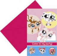 6 Einladungskarten Pet Shop™