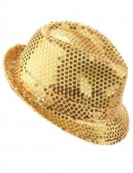 Paillettenhut gold für Erwachsene