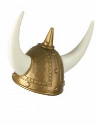 goldener Wikinger Helm für Erwachsene mit Hörnern