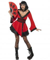 Gothic-Geishakostüm Halloween für Damen