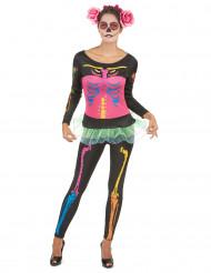 Damen-Skelettkostüm Halloween für Erwachsene