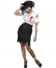 Zombie Sekretärin Kostüm Halloween für Damen