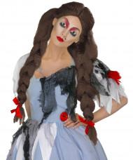 Halloween Perücke «Sterbliche» für Frauen