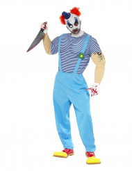 Mörder-Clown Kostüm Erwachsene Halloween