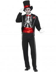 Gentlemen Skelett-Kostüm Erwachsene Halloween