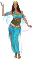 Arabische Tänzerinnen-Kostüm in Blau für Damen