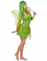 Grünes Feenkostüm für Damen