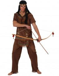 Indianisches Kriegerkostüm für Männer bunt