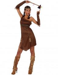 Indianerinnen-Damenkostüm mit Fransen bunt