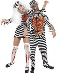 Halloween Zombie Gefangenen Paarkostüm