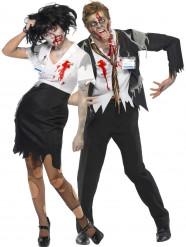 Zombiekostüm Büroangestelltenpaar Halloween