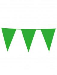 Grüne Wimpelgirlande