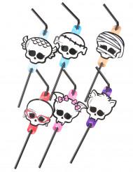 Biegsame Halloween-Trinkhalme Monster High™