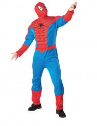 Spiderman™-Kostüm mit festem Torso und Kapuzenmaske für Erwachsene