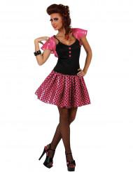 Rosa 60er-Jahre-Kostüm für Damen