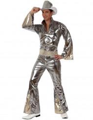 Silbernes Disco-Kostüm für Herren