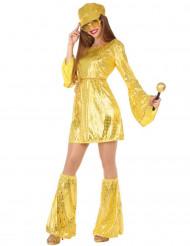 Goldenes Disco-Kostüm für Damen