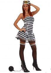 Sexy Gefangenenkostüm für Damen