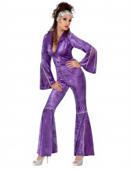 Violettes Disco-Kostüm für Damen