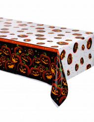 Halloween Kunststofftischdecke Schwarzer Kürbis