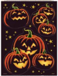Halloween Schwarzer Kürbis-Aufkleber für Fenster