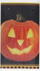 Halloween Kürbis-Kunststofftischdecke
