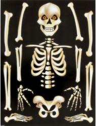 Halloween Skelett-Aufkleber für Fenster
