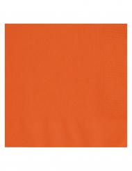 20 orangefarbene Papierservietten