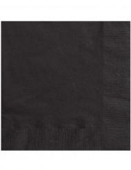 20 schwarze Papierservietten, 33 cm x 33 cm