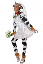 Hochzeits-Kuhkostüm für Erwachsene