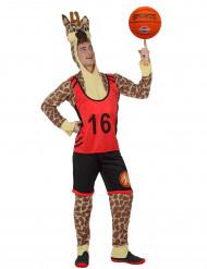 Giraffen-Basketballspieler-Kostüm für Erwachsene