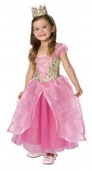 Prinzessinnenkostüm für Mädchen rosa-goldfarben
