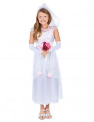 Braut Kinderkostüm für Mädchen