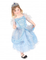 Prinzessinnen-Mädchenkostüm blau