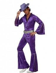 Violettes Disco-Kostüm für Herren