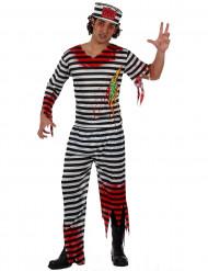 Halloween Zombie Gefängnisinsassen-Kostüm für Herren