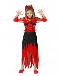 Teufelin Mädchenkostüm schwarz-rot