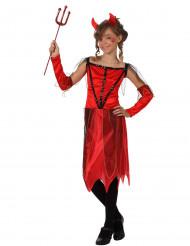 Teufelin-Kostüm für Mädchen schwarz-rot-goldfarben