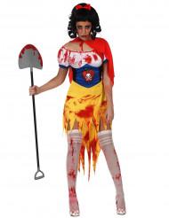 Blutverschmiertes Schneewittchen-Kostüm für Damen