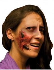 Falsche Wunde Gesicht für Erwachsene Halloween