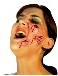 Künstliche Schnittwunden Halloween Make-up hautfarben-rot