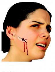 Klingenschnitt-Gesichtswunde für Erwachsene Make-up Halloween