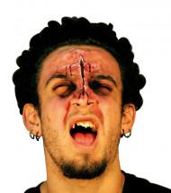Falsche Gesichtswunde für Erwachsene Halloween