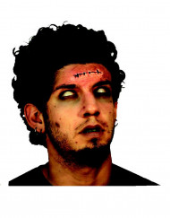 Künstliche-Wunde Naht für Erwachsene Halloween-Make-up rot