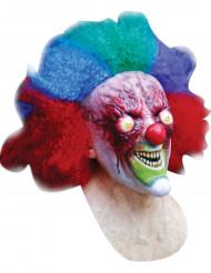 Psycho-Clownmaske für Erwachsene Halloween bunt