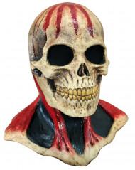 Skelett Maske mit Blutspuren Erwachsene Halloween