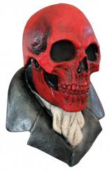 rote Totenkopfmaske Halloween für Erwachsene