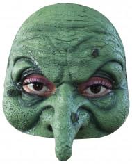 grüne Hexer Halbmaske Halloween für Erwachsene
