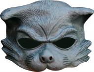 Graue Katzen Halbmaske für Erwachsene